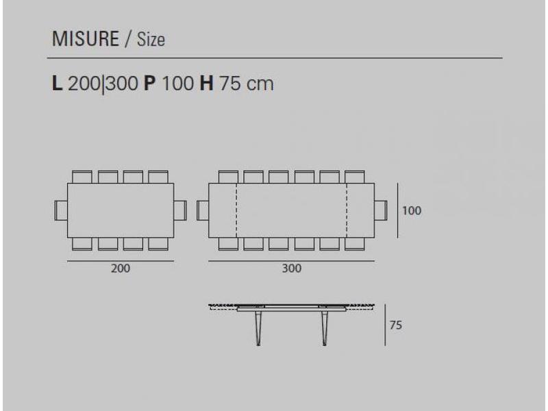 totem esstisch ausziehbar holzf e mit tischplatte aus feinsteinz. Black Bedroom Furniture Sets. Home Design Ideas